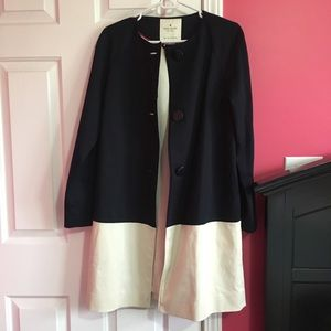 Kate Spade navy and cream pea coat